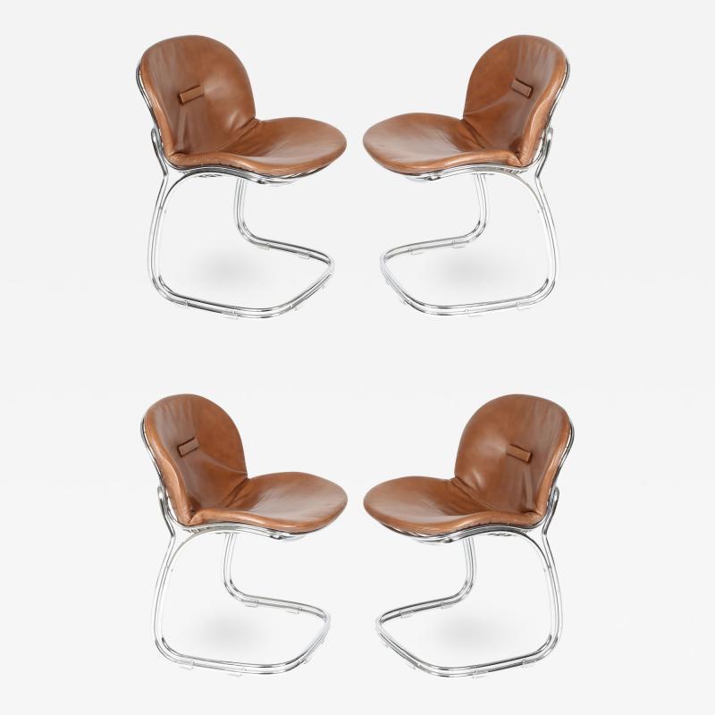 Gastone Rinaldi Set of Four Sabrina Chairs by Gastone Rinaldi for RIMA circa 1970s