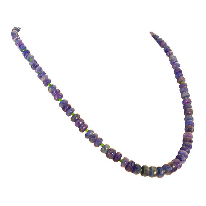 Gemjunky Elegant 22 Inch Graduated Tanzanite Necklace