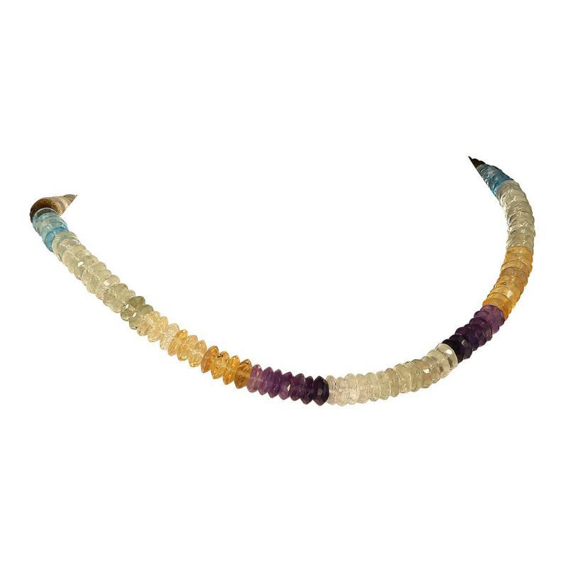 Gemjunky Elegant Multi Color Gemstone necklace