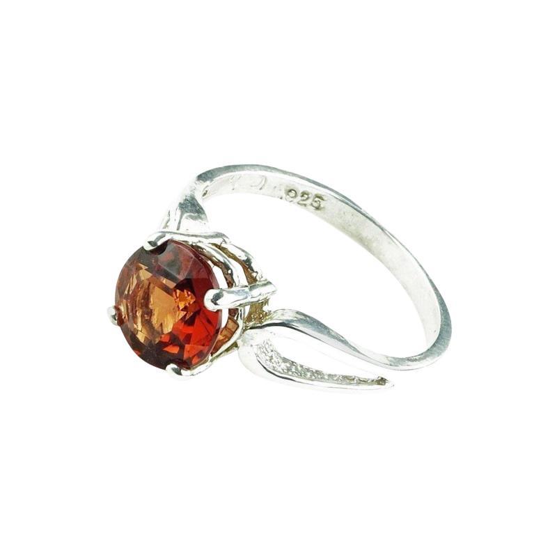 Gemjunky Spessartite Garnet in Sterling Silver Ring