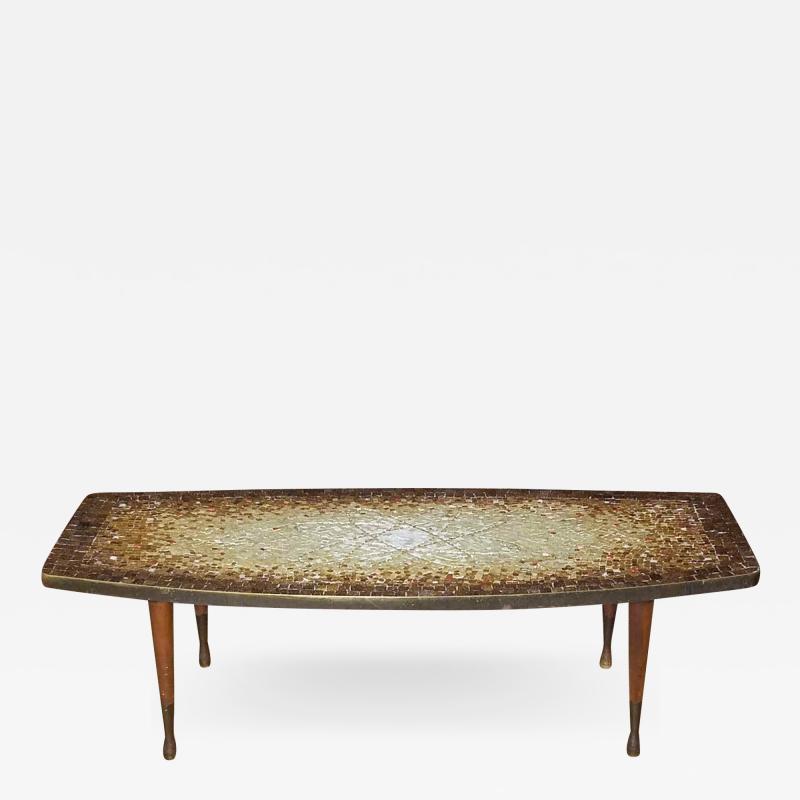 Genaro Alvarez Atomic Design Mosaic Tile Coffee Table by Genaro Alvarez Mexico circa 1955