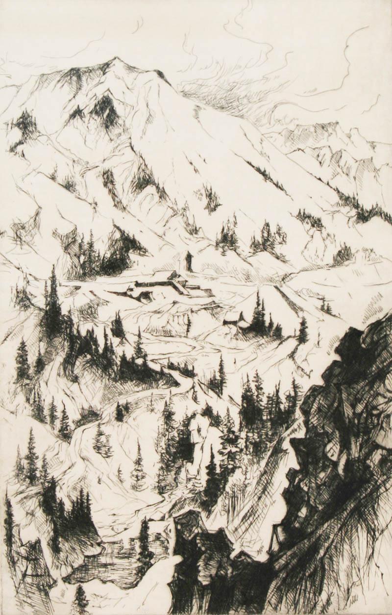 Gene Alice Geneva Glasier Kloss Mine and Mountain Sketch