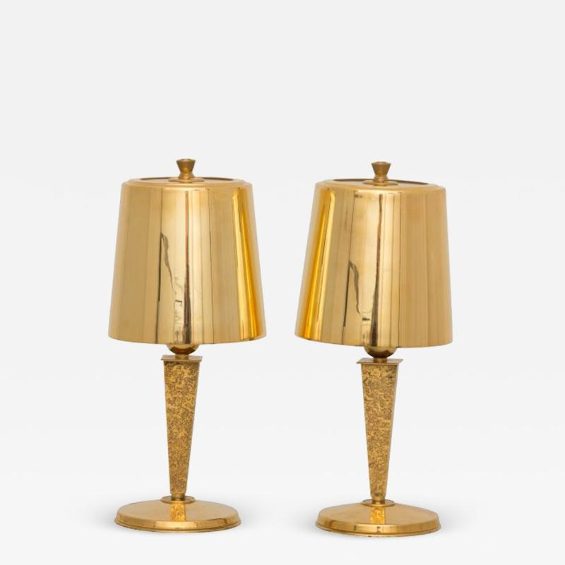 Genet et Michon Art deco table lamps by Genet and Michon