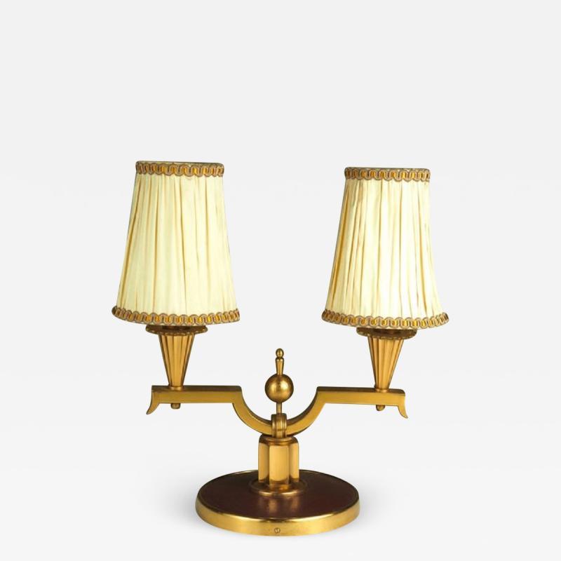 Genet et Michon Genet et Michon Pair of Gilt Bronze Lamps
