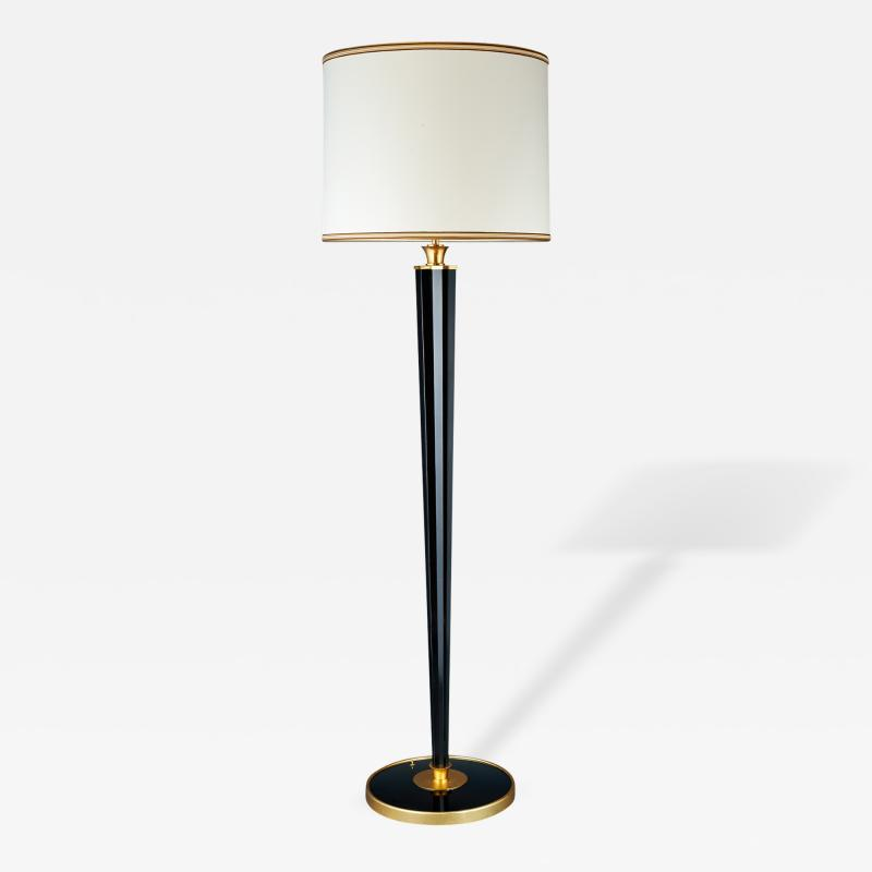 Genet et Michon Important Star Form Bronze Floor Lamp France 1950s