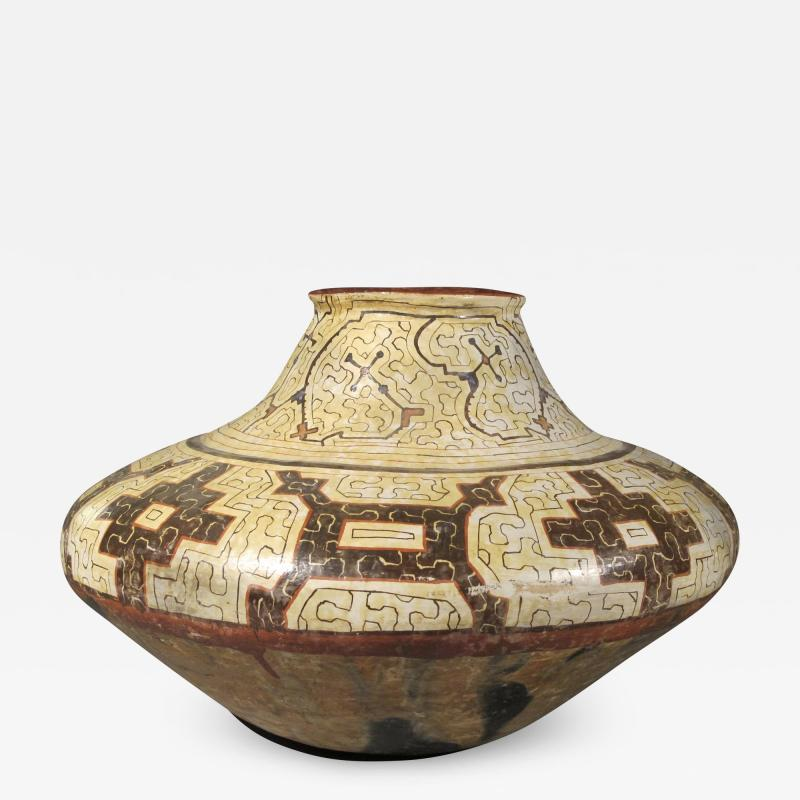 Geometric Ceramic Shibipo jar
