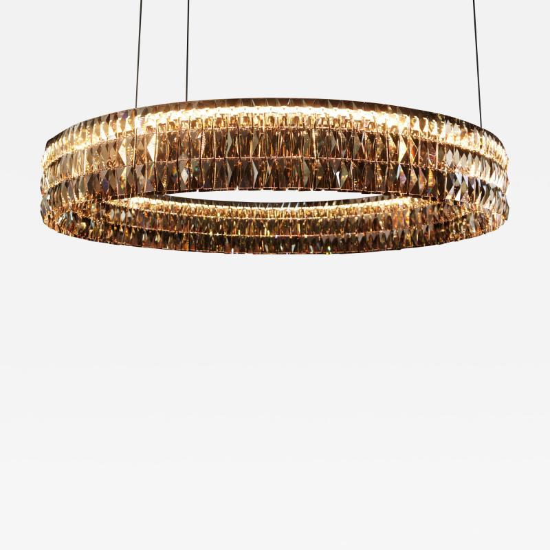 Georg Baldele GLITTERHOOP GOLDEN ANTIQUE minimalist crystal chandelier
