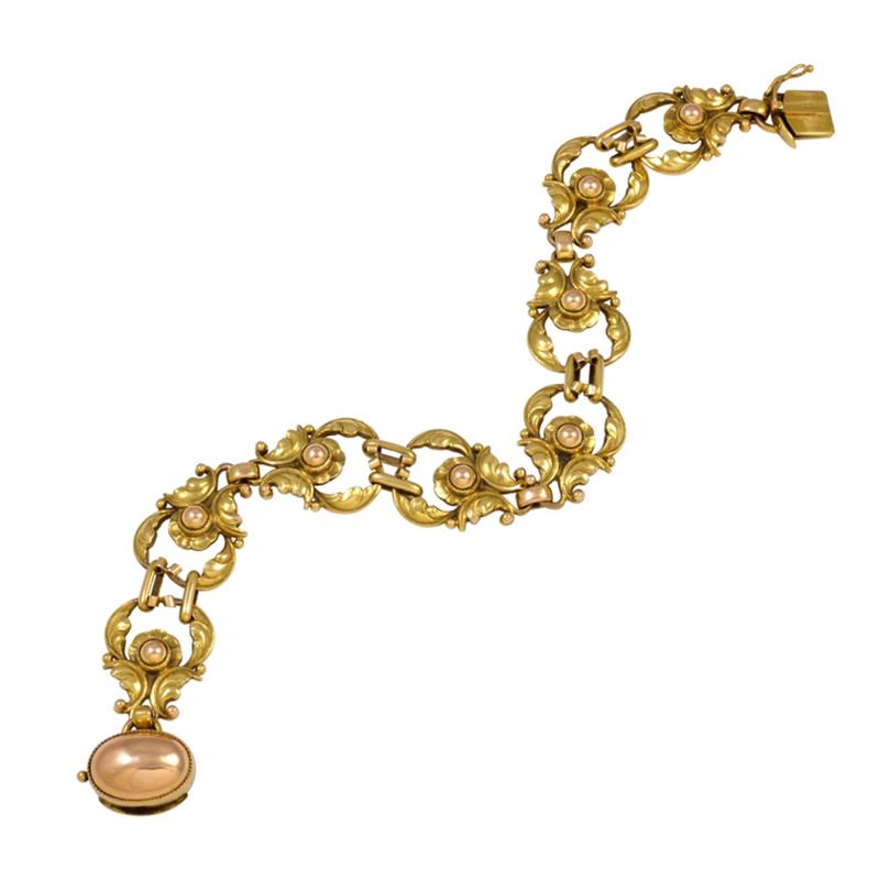 Georg Jensen Early Georg Jensen Gold Bracelet No 172