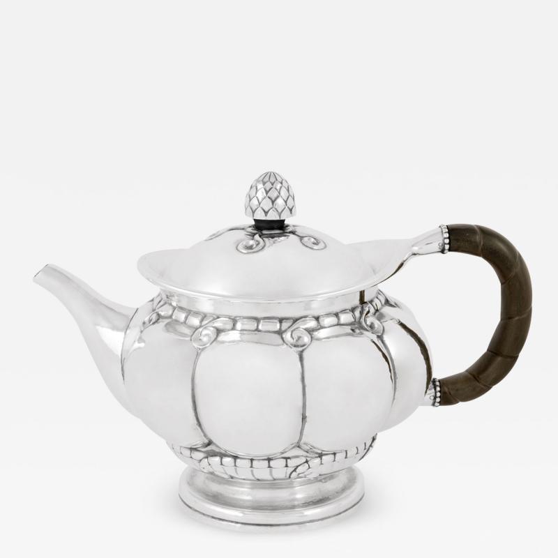 Georg Jensen Early Vintage Georg Jensen Sterling Silver Melon Teapot 159