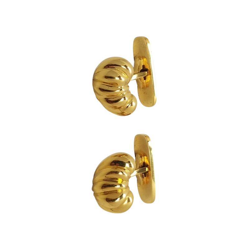 Georg Jensen Georg Jensen 14kt gold cufflinks design number 868