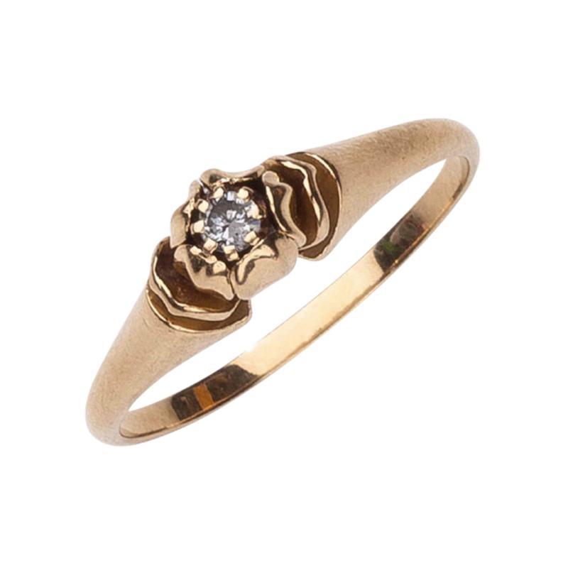 Georg Jensen Georg Jensen Gold Ring No 325 with Diamond