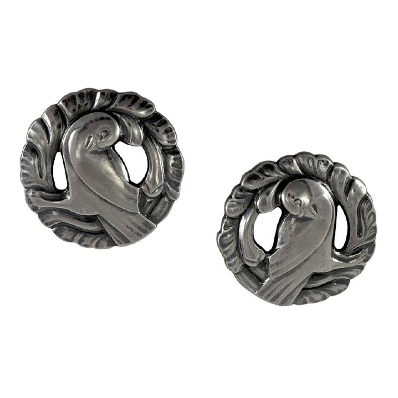 Georg Jensen Georg Jensen Silver Dove Earrings No 66