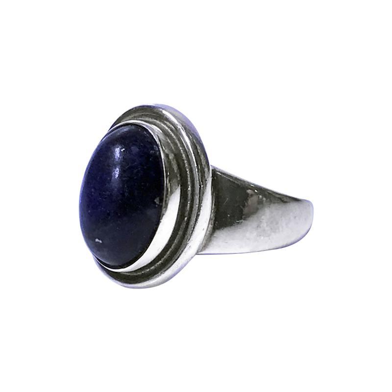 Georg Jensen Georg Jensen Sterling Lapis Ring designed by Harald Nielsen