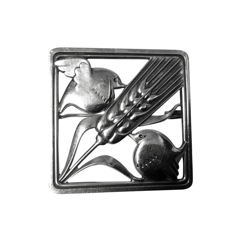 Georg Jensen Georg Jensen Sterling Silver Birds Brooch 1933 44