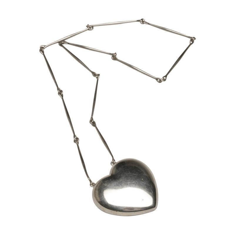 Georg Jensen Georg Jensen Sterling Silver Heart Necklace No 126 by Astrid Fog