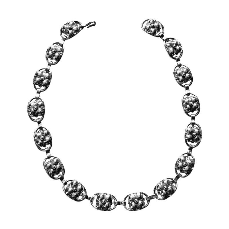 Georg Jensen Georg Jensen Sterling Silver Necklace American C 1940