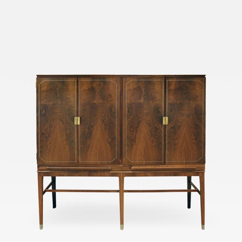 Georg Kofoed Georg Kofoed 4 Door Cabinet in Brazilian Rosewood with Inlays 1930s signed