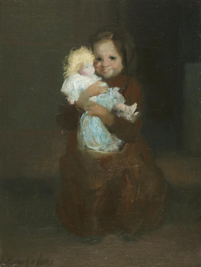 George Benjamin Luks Child with Doll