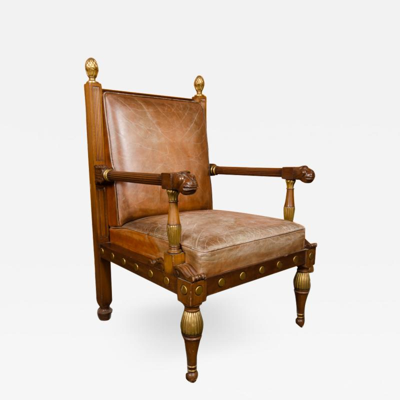 George Bullock An English 1920s open armchair in the manner of George Bullock