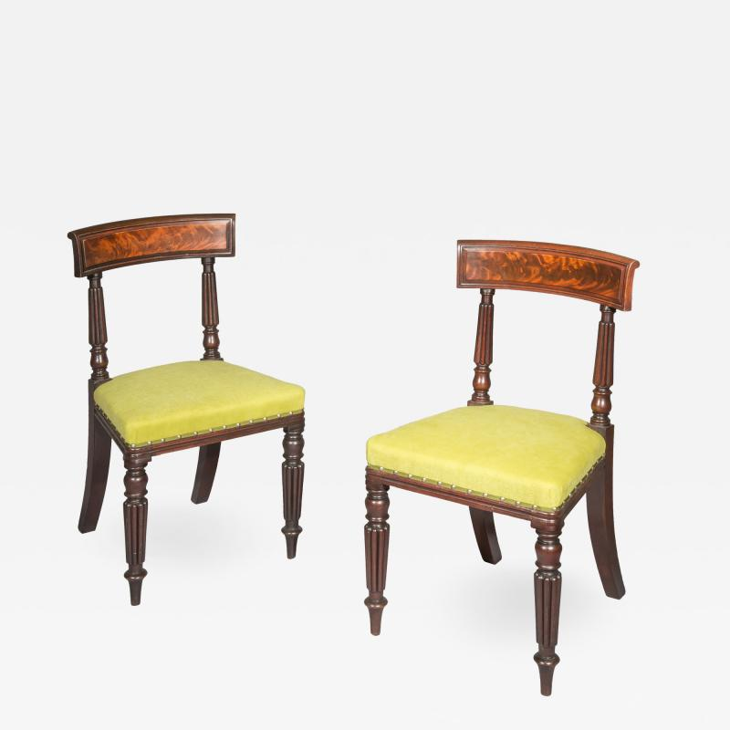 George Bullock Antique Pair of Chairs Regency 19th Century Manner of George Bullock