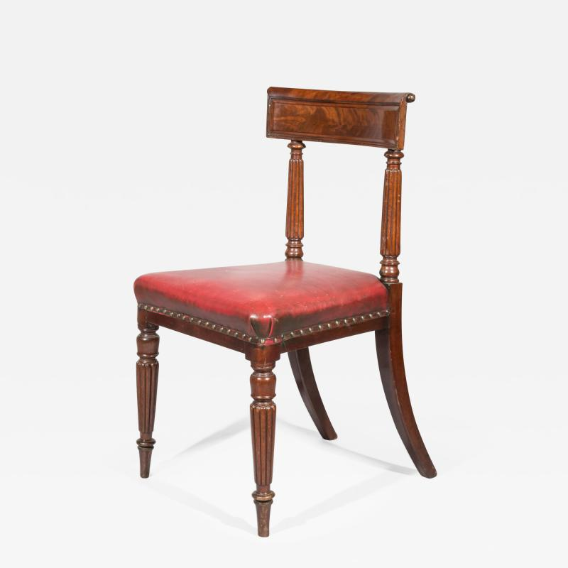 George Bullock Antique Regency Royal Desk Chair in Burgundy Leather
