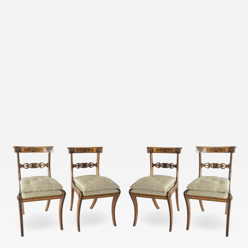 George Bullock Chairs by George Bullock Set of 4 England 1816