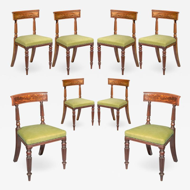 George Bullock Eight Regency Dining Chairs 19th Century