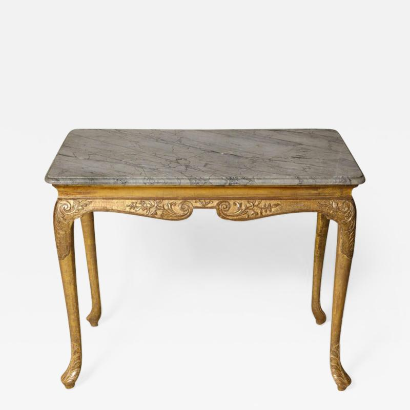 George I Gesso Carved Marble Top Table