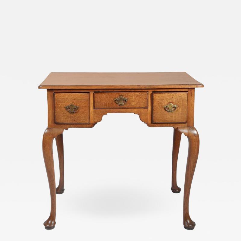 George I Oak Three Drawer Table