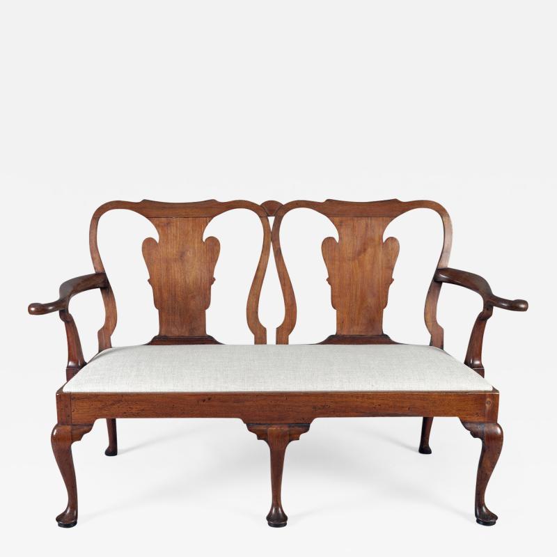 George I Walnut Double Chair Back Settee