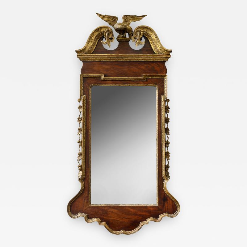 George II Scrolled Arch Parcel Gilt Mirror