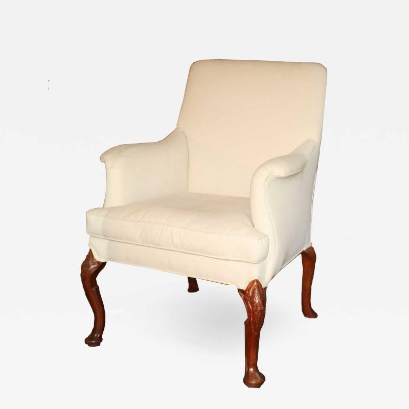 George II Walnut Legged Armchair
