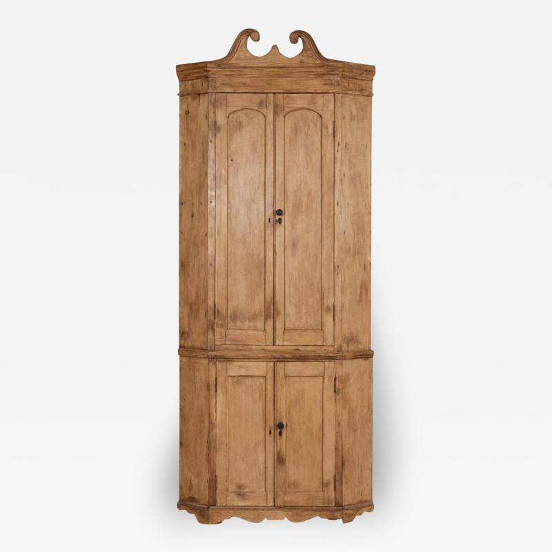 George III Pine Corner Cupboard