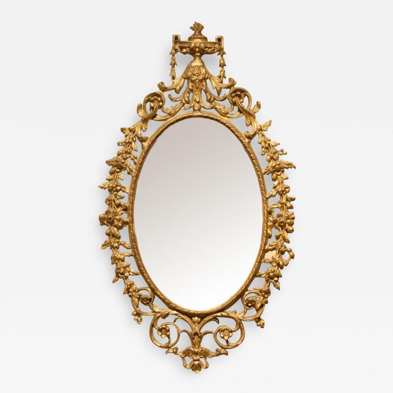 George III period carton pierre wall mirror