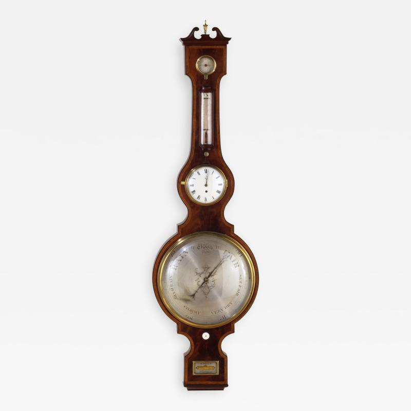 George IV Mahogany Wheel Barometer signed G Rossi Exchange St Norwich