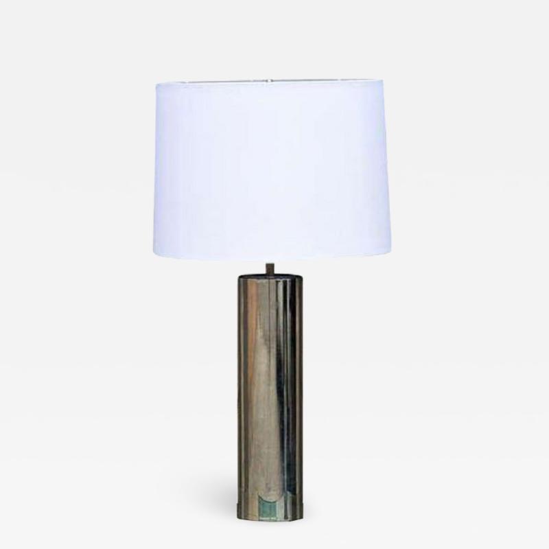 George Kovacs Minimalistic Chrome Cylinder Table Lamp By George Kovacs