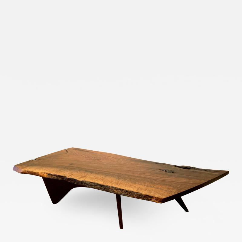 George Nakashima Early Slab Walnut Coffee Table George Nakashima