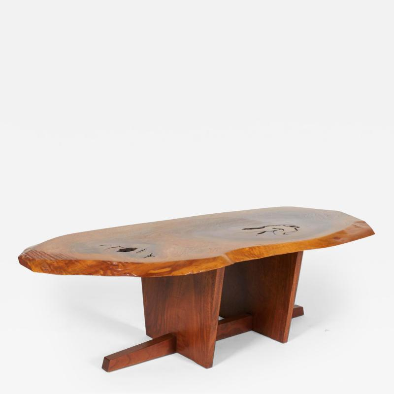 George Nakashima Free Edge Walnut Coffee Table