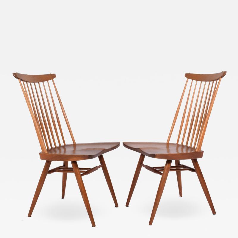 George Nakashima George Nakashima Pair New Chairs