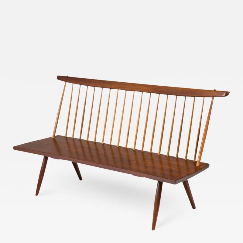 George Nakashima George Nakashima Walnut Spindle Back Bench