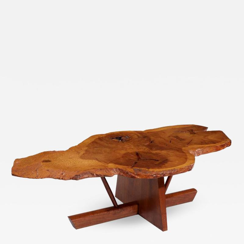 George Nakashima George and Mira Nakashima English Oak Walnut and Hickory Minguren Coffee Table