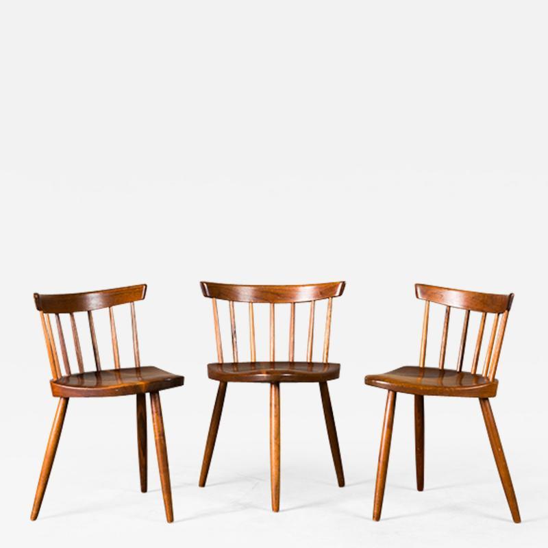 George Nakashima Nakashima Mira Chairs set of 3