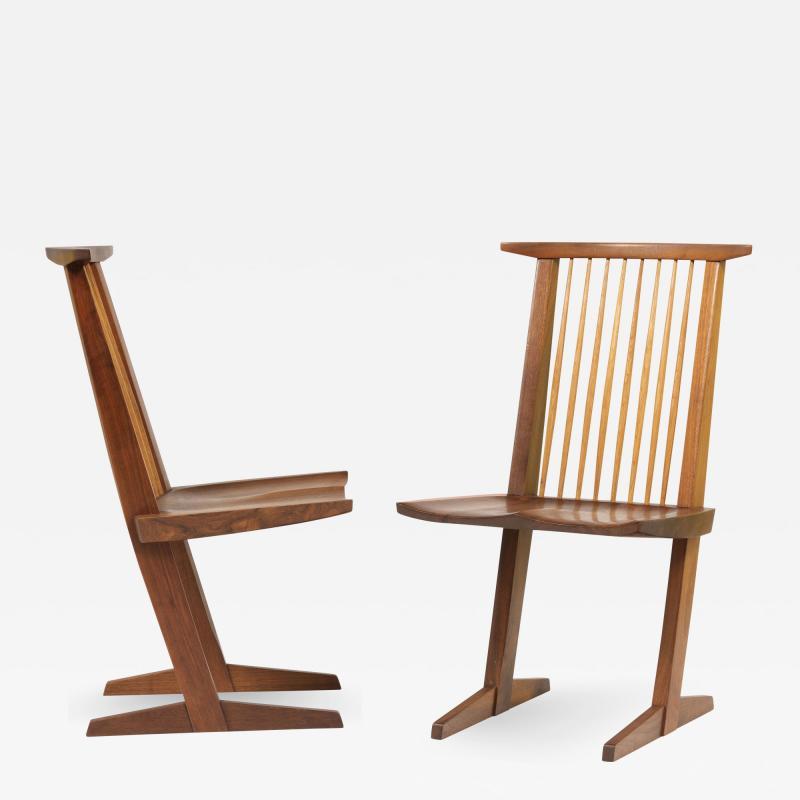 George Nakashima Set of 8 Conoid chairs