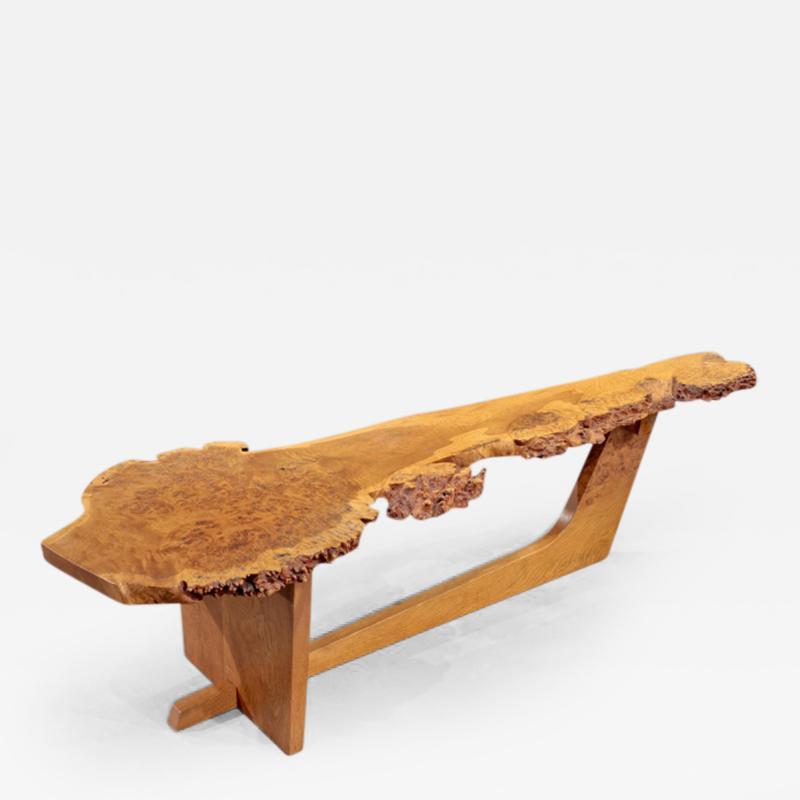 George Nakashima Sled Based Coffee Table by George Nakashima