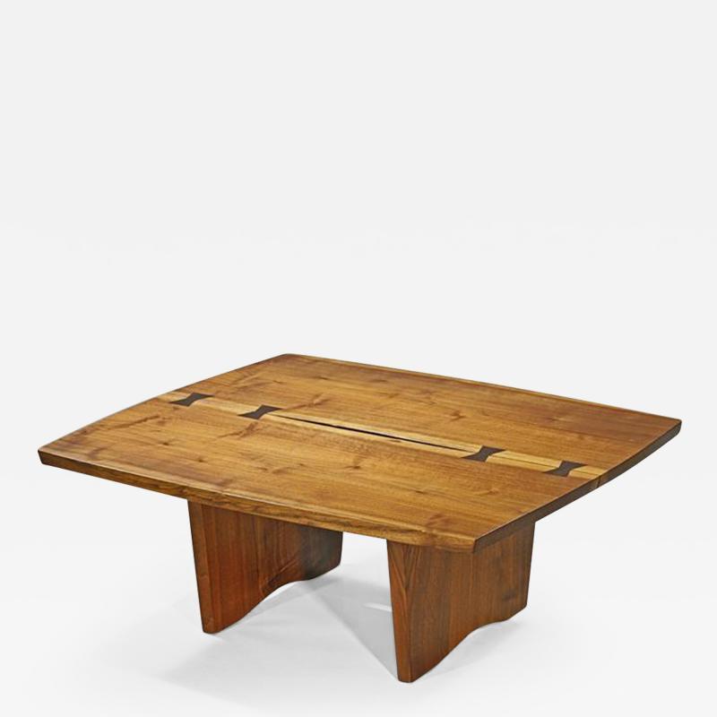 George Nakashima Unique Square Coffee Table by George Nakashima 1973