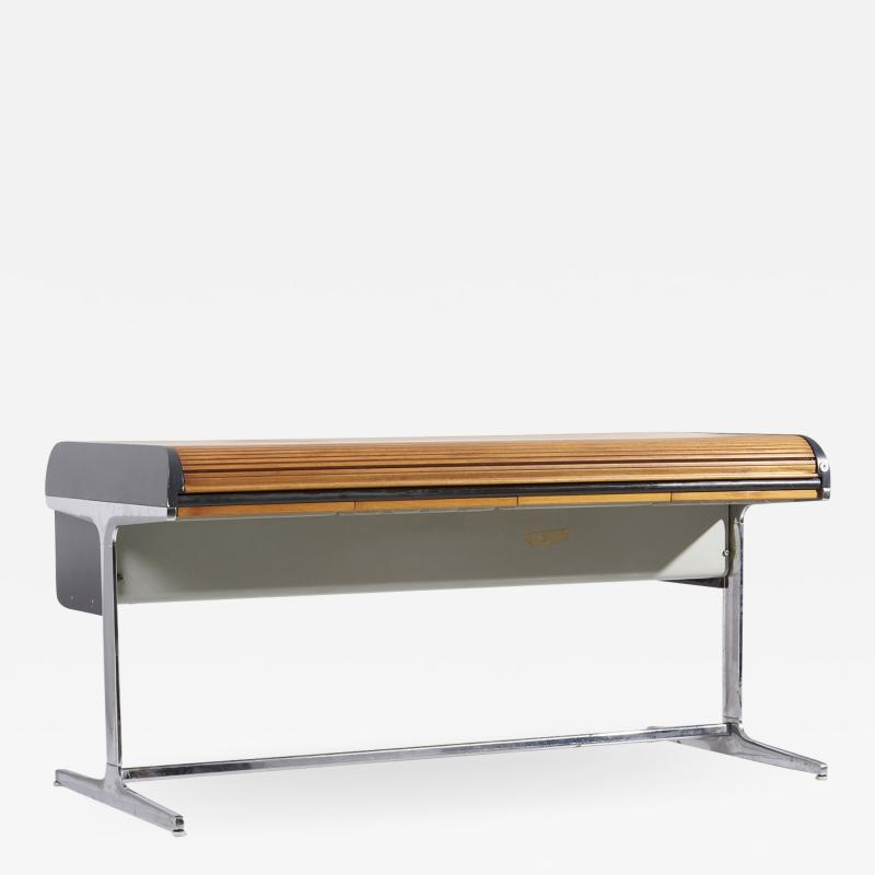 George Nelson Early Tambour Roll Top Desk by George Nelson for Herman Miller 1960s
