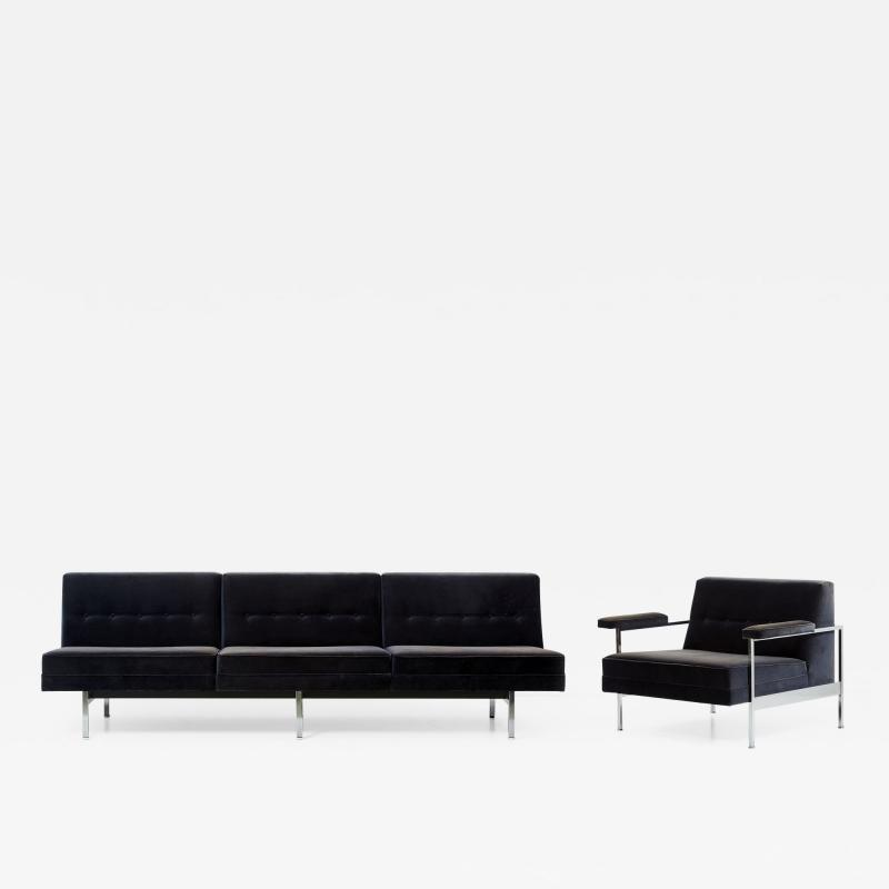 George Nelson Modular Sectional Sofa and Chair by George Nelson for Herman Miller USA 1960s