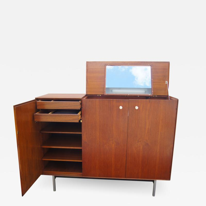 George Nelson Thin Edge Walnut Gentlemans Chest by George Nelson for Herman Miller