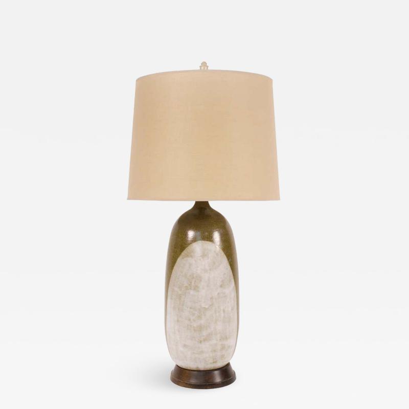 George Nobuyuki George Nobuyuki for Sy Allan Designs California Modernist Studio Ceramic Lamp