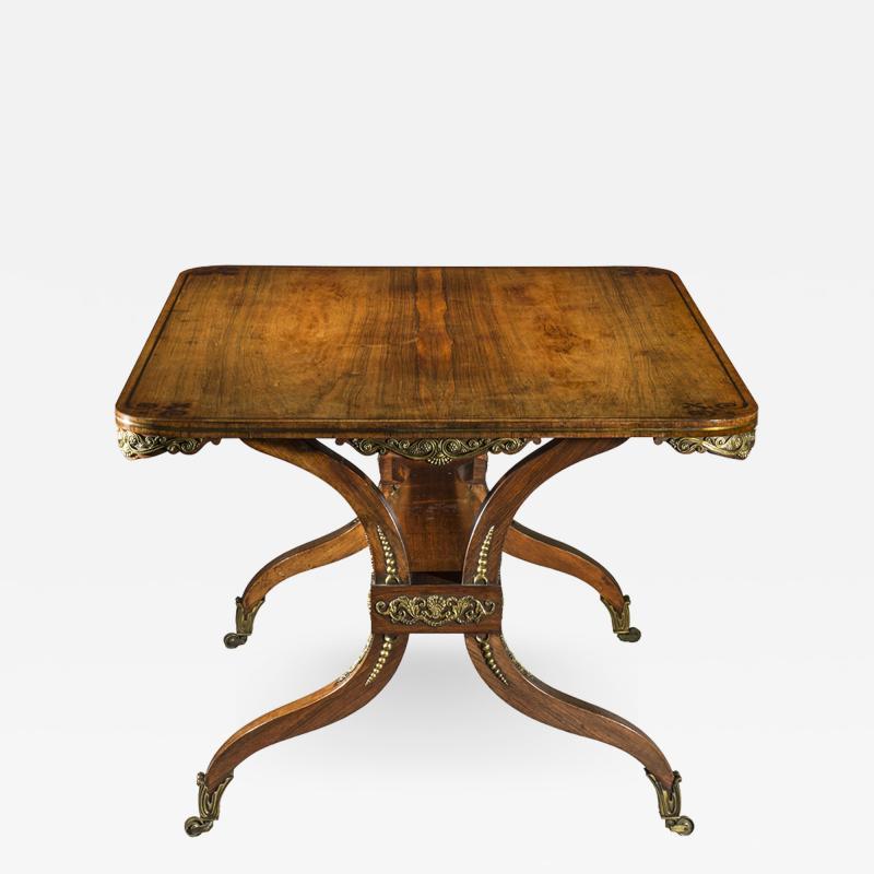 George Oakley 19th Century Regency Rosewood Ormolu Library Table circa 1815